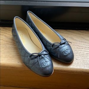 Chanel Quilted Ballet Flats size 35.5